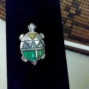 Carolyn Pollack Turtle Pin/Pendant